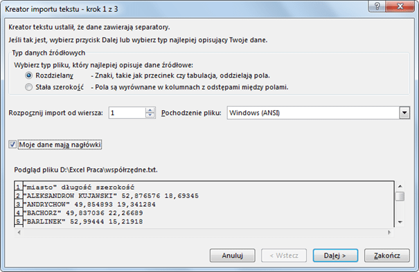 Import danych do PowerPivot_26