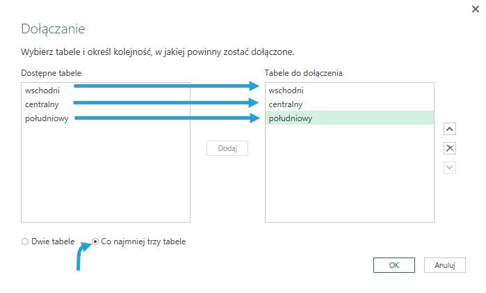 dołączanie power query get transform 2