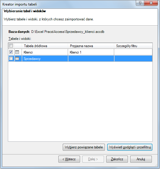 Import danych do PowerPivot_14