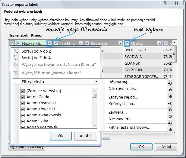 Import danych do PowerPivot_15