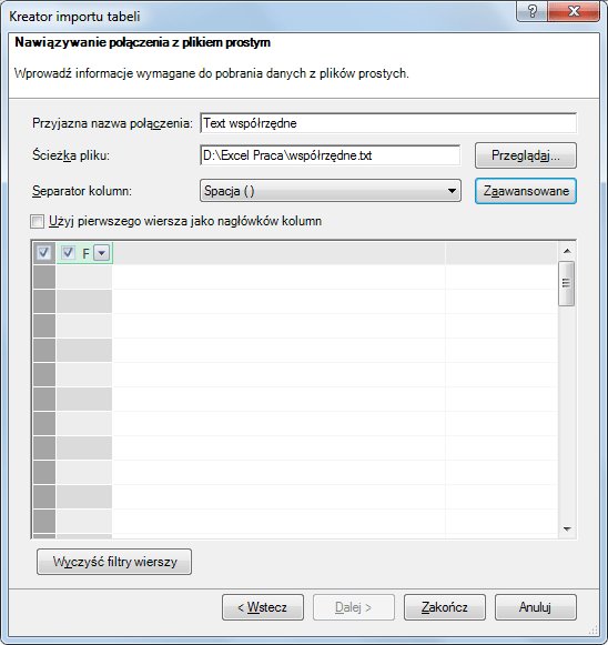 Import danych do PowerPivot_30