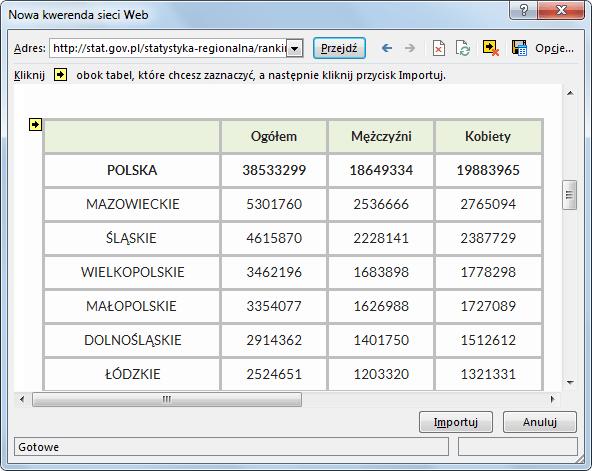 Import danych do PowerPivot_35