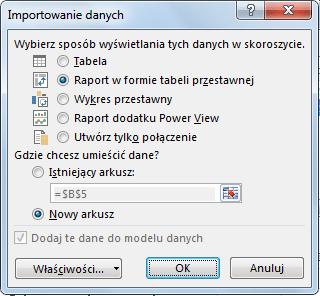 Import danych do PowerPivot_9