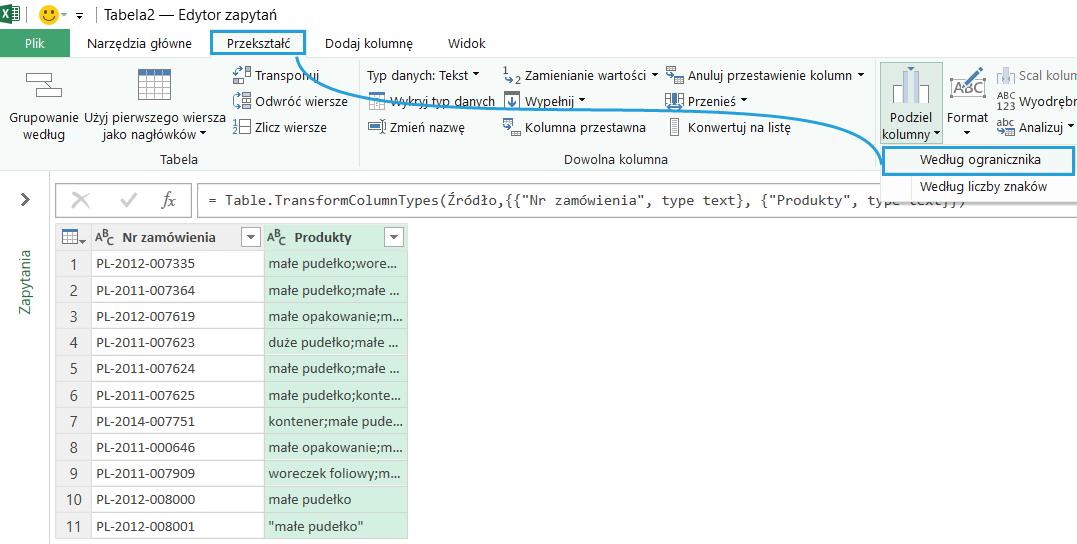 Podziel Kolumny Jako Wiersze W Power Query Excel Bi