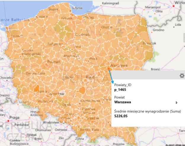 Mapa Polski Excel Excel Bi Power Query Power Pivot Power Bi